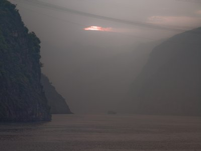 China, Sichuan province, River by mountains Fine Art Print by Assaf Frank