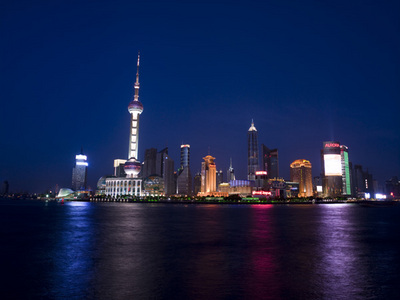 Shanghai Skyline Fine Art Print by Assaf Frank