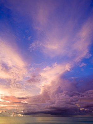 Clouds over sea at dusk, Malaysia Wall Art & Canvas Prints by Assaf Frank
