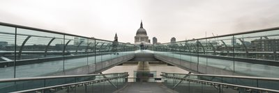 England, London, Millennium Bridge and St. Paul's Cathedral Wall Art & Canvas Prints by Assaf Frank