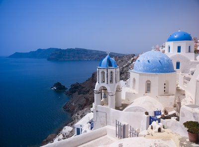 Greek Isle Santorini Poster Art Print by Assaf Frank