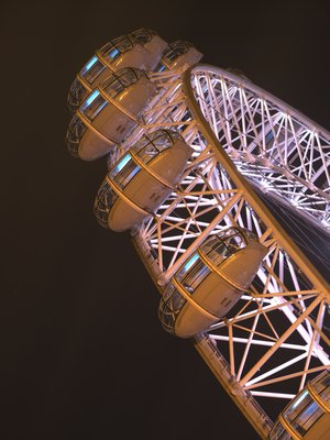 London Eye at night Fine Art Print by Assaf Frank