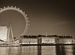 London eye and city hall at night Fine Art Print by Assaf Frank
