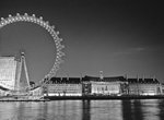 London eye and city hall at night Wall Art & Canvas Prints by Assaf Frank