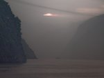 China, Sichuan province, River by mountains