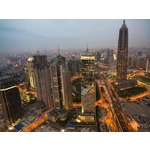 Shanghai High View Fine Art Print by Assaf Frank