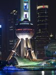 China, Shanghai, Skyscraper and Oriental Pearl Tower, close-up Wall Art & Canvas Prints by Assaf Frank