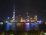 Shanghai skyline at night Wall Art & Canvas Prints by Assaf Frank