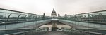 England, London, Millennium Bridge and St. Paul's Cathedral