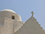 Church against sky, Greece, Mykonos Island Fine Art Print by Assaf Frank