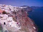 Greece, Cyclades, Santorini Island, View of Oia Postcards, Greetings Cards, Art Prints, Canvas, Framed Pictures, T-shirts & Wall Art by Assaf Frank