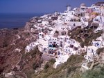 Greece, Cyclades, Santorini Island, View of Oia Fine Art Print by Assaf Frank
