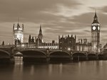 England,London,Westminster bridge at dusk Fine Art Print by Antonia Myatt