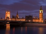 England,London,Westminster bridge at dusk Wall Art & Canvas Prints by Joseph Mallord William Turner