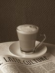 Close-up of caffee latte Fine Art Print by Assaf Frank