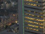 Office building windows at dusk, Frankfurt, Germany Wall Art & Canvas Prints by Charlotte Johnson Wahl