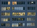 Office building windows, Frankfurt, Germany Wall Art & Canvas Prints by Charlotte Johnson Wahl