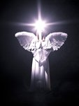 Angel on black background Fine Art Print by Assaf Frank