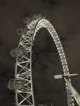 The London Eye at night, close-up Fine Art Print by Assaf Frank