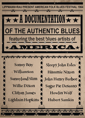American Blues Poster by Rokpool - print