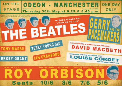 Beatles Concert Poster by Rokpool - print
