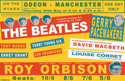 Beatles Concert Poster (1) by Rokpool - print