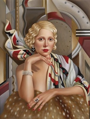 La Femme en Soie (oil on linen) Postcards, Greetings Cards, Art Prints, Canvas, Framed Pictures, T-shirts & Wall Art by Catherine Abel