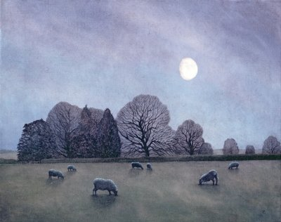 Moonlit Night, 2004 (oil on canvas) Wall Art & Canvas Prints by Ann Brain