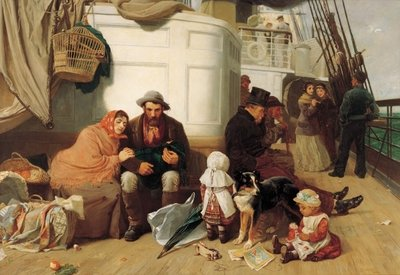 The immigrants' ship, 1884 Poster Art Print by John Charles Dollman