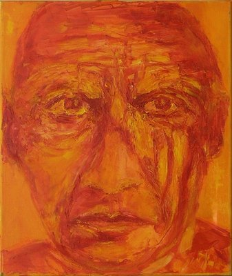 Pablo Picasso (oil on canvas) Postcards, Greetings Cards, Art Prints, Canvas, Framed Pictures, T-shirts & Wall Art by Annick Gaillard