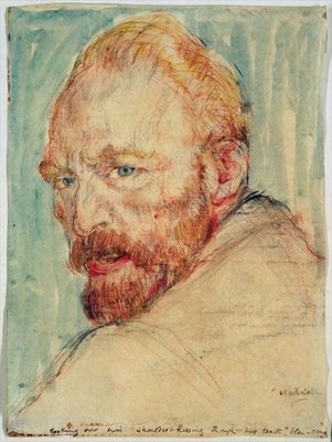 Portrait of Van Gogh Fine Art Print by Lily Blatherwick