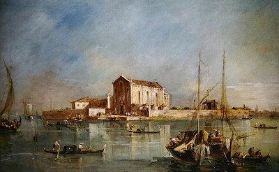 The Island of San Cristoforo della Pace, Murano Fine Art Print by Francesco Guardi