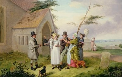 The Interrupted Wedding Fine Art Print by Edmund Bristow