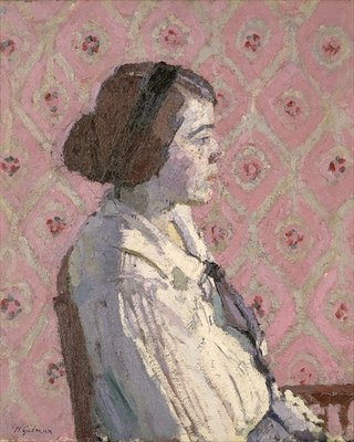 Portrait in Profile: Mary L Fine Art Print by Harold Gilman