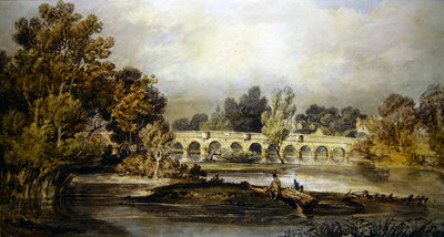 Maidenhead Bridge Fine Art Print by Joseph Mallord William Turner