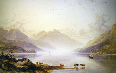 Loch Lomond at Dawn Fine Art Print by Anthony Vandyke Copley Fielding
