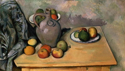 Still Life with Blue Drapery, c.1893-94 Poster Art Print by Paul Cezanne