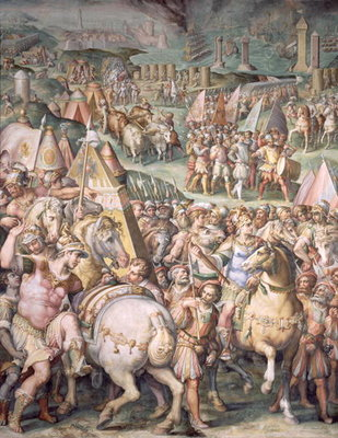 The Siege of Livorno by Maximilian I Fine Art Print by Giorgio Vasari