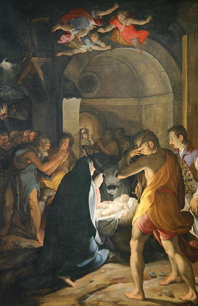 Adoration of the Shepherds, 1584 Postcards, Greetings Cards, Art Prints, Canvas, Framed Pictures, T-shirts & Wall Art by Camillo Procaccini