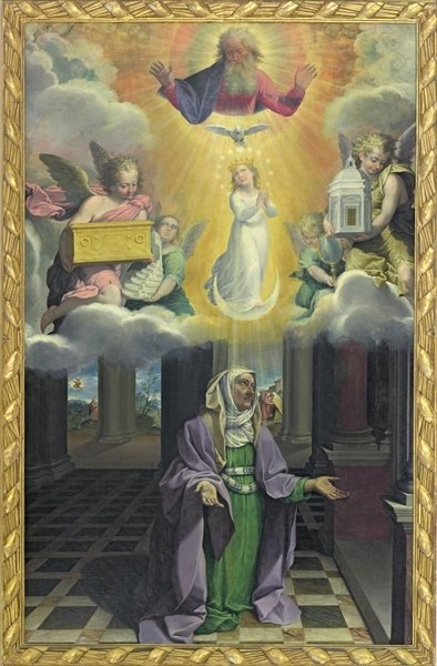 St. Anne and the Immaculate Conception Fine Art Print by Bartolomeo Cesi