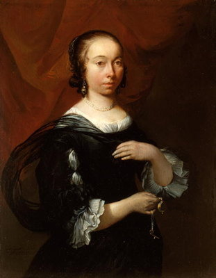 Portrait of a Lady, c.1665-70 Fine Art Print by Jacob Esselens