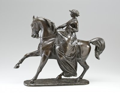 Equestrian statue of Queen Victoria, 1853 Fine Art Print by Thomas Thornycroft