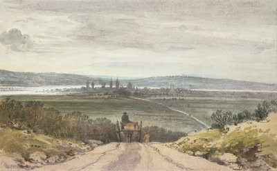 View of Oxford from Shotover Hill in Floodtime, When the Water was Out, 10th January, 1791 Fine Art Print by John Baptist Malchair