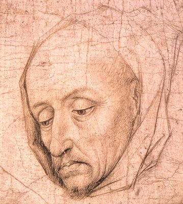 Study of the head of an old man Fine Art Print by Rogier van der Weyden