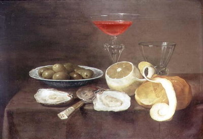 Still Life with Oysters, 17th century Fine Art Print by Jacob Foppens van Es