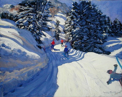 Ski Trail, Lofer, 2004 Poster Art Print by Andrew Macara
