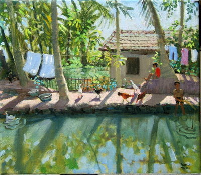 Backwaters, India Fine Art Print by Andrew Macara