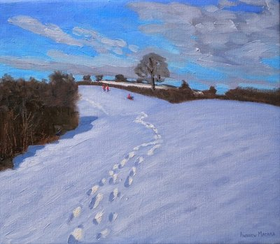 Footprints in the Snow, 2009 Fine Art Print by Andrew Macara