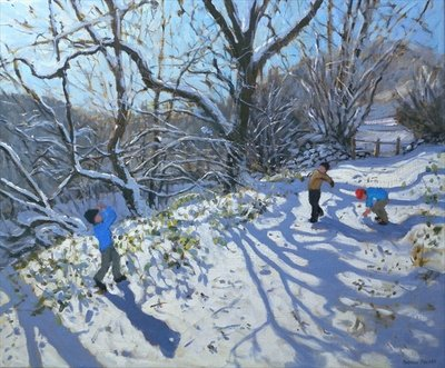 Snowball Fight, 2007 Poster Art Print by Andrew Macara