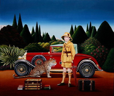 Red Rolls Royce, 1992 Fine Art Print by Anthony Southcombe
